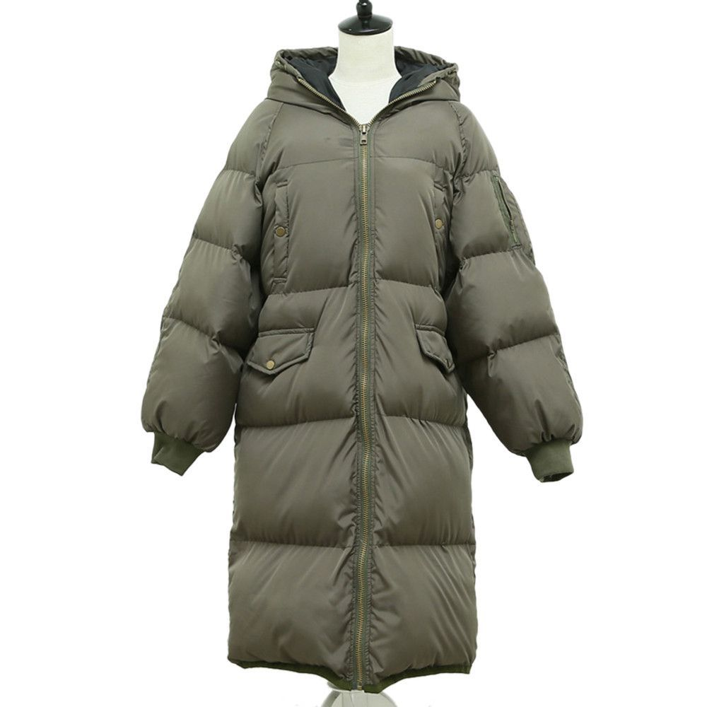 Photo of Winter Couple Design Slim Plus Size Cotton Coat Hoodied    army green    XS