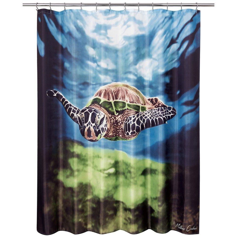 Sea Turtle Shower Curtain Allure Home Creation Shower Curtain