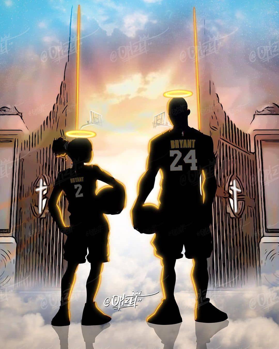 Kobe And Gigi Bryant Wallpaper In 2021 Kobe Bryant Pictures Kobe Bryant Wallpaper Kobe Bryant Poster