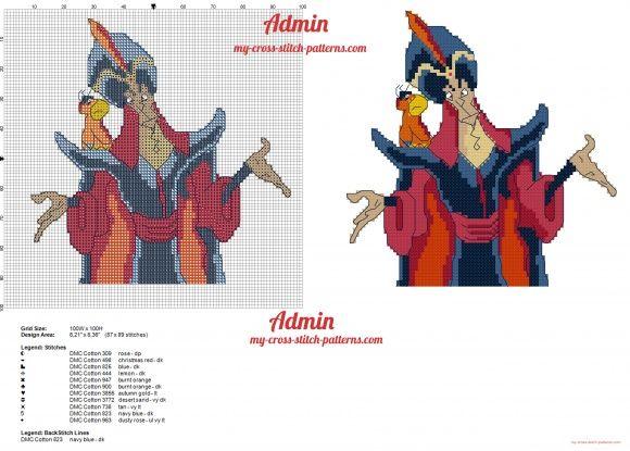 Jafar Disney Aladdin   punto de cruz   Pinterest   Punto de cruz ...