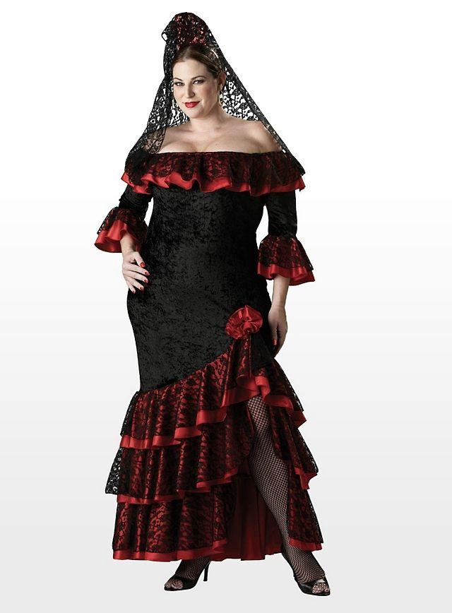 8c53dae2bd9b Spanische Tänzerin Kostüm #spanish #lady #tanz #tanzen #tänzer #kleid  #dress #lang #schwarz #rot #verführerisch #flamenco #tango #bolero #andaluz  #spanisch ...