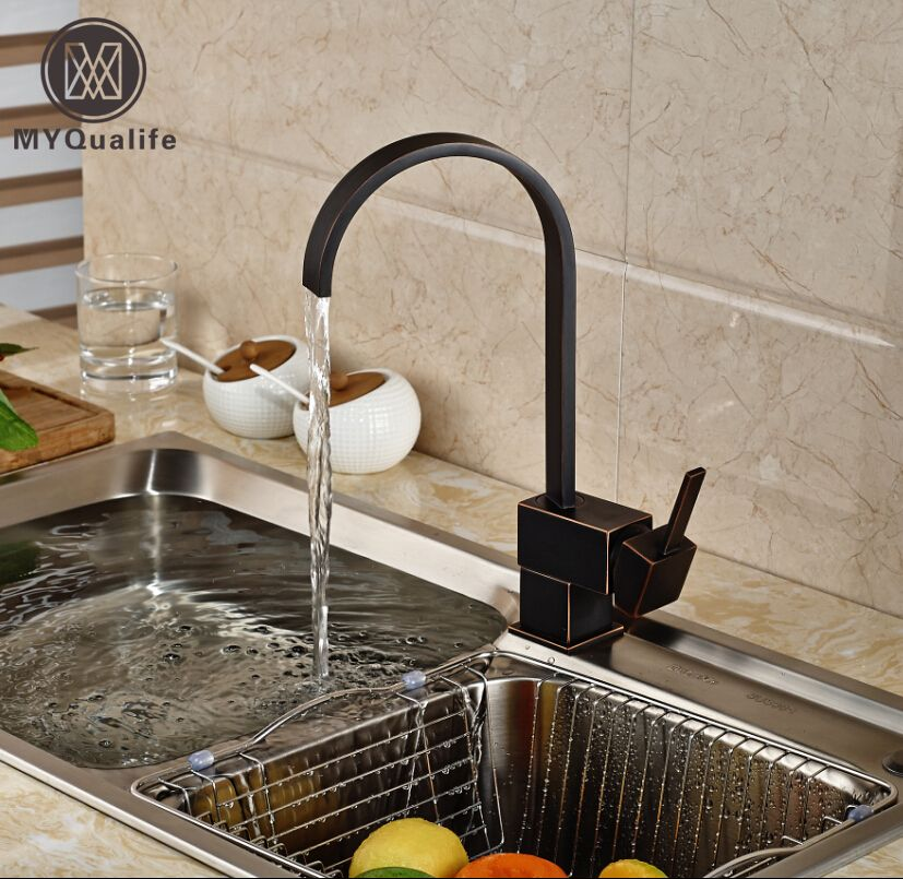 Reviews New Design Square Waterfall Kitchen Faucet Brass Swivel Kitchen  Sink Mixer Tap Vanity Faucets ⚾
