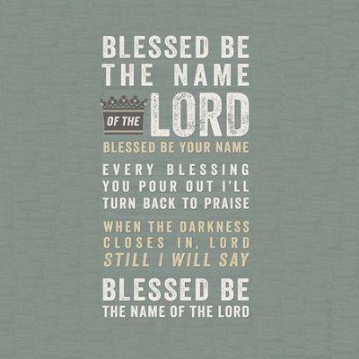 FEIERT JESUS! - BLESSED BE YOUR NAME LYRICS