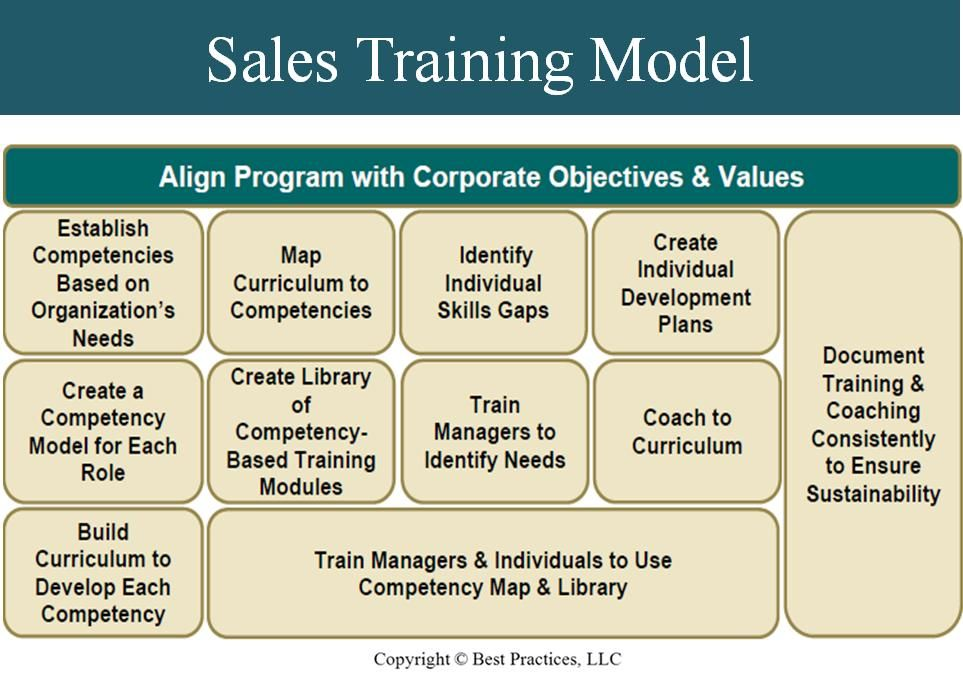 This infographic highlights a successful sales training model that - how to develop a sales training plan
