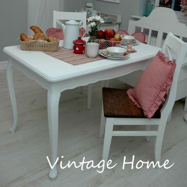 Stol Vintage Riviera Shabby Chic Postarzany 2738710935 Oficjalne Archiwum Allegro Vintage House Shabby Chic Decor