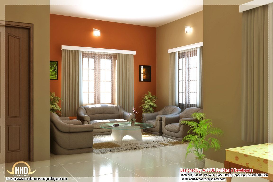 Kerala Style Home Interior Designs Interior House Colors Small House Interior Design Interior Design Paint