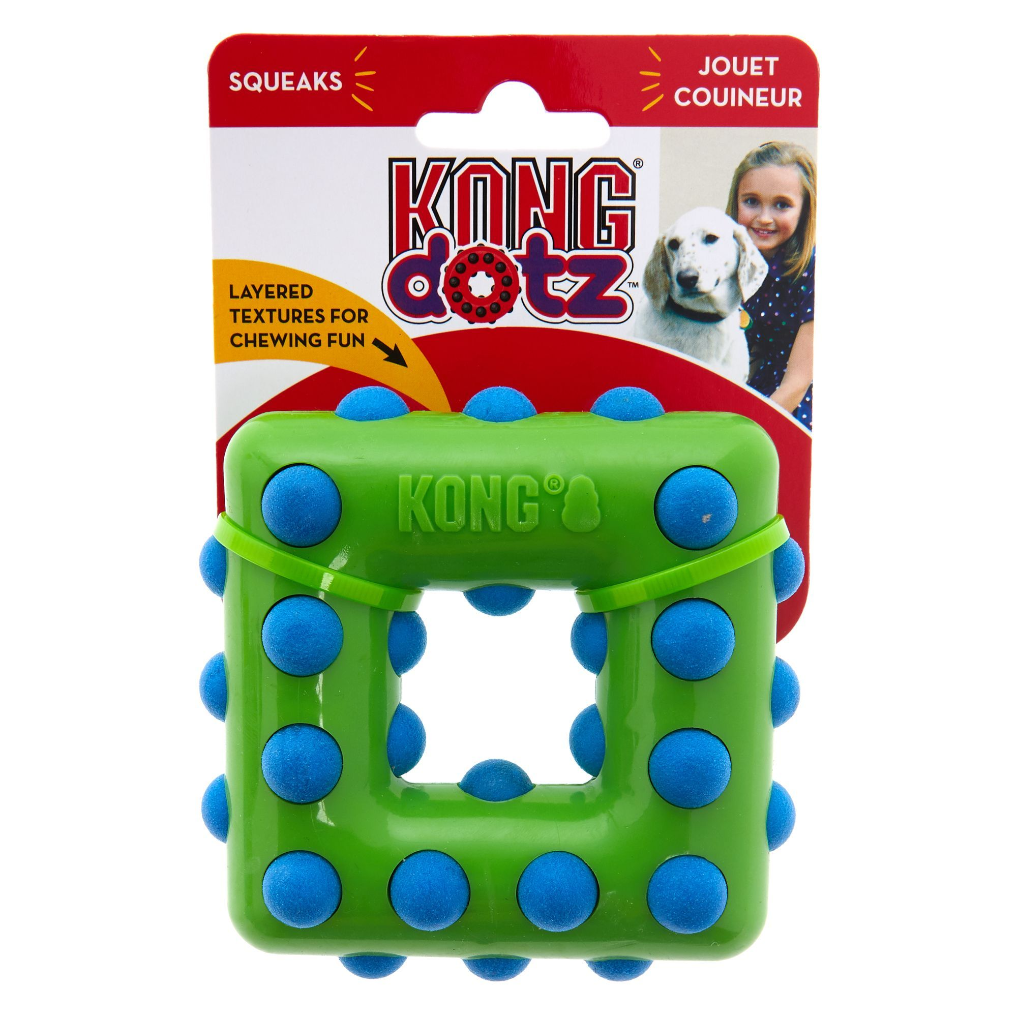 Kong Dotz Square Dog Toy Size Small Dog Toys Interactive Dog
