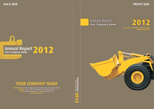 A template for an annual report cover The more conservative taupe - annual report cover template