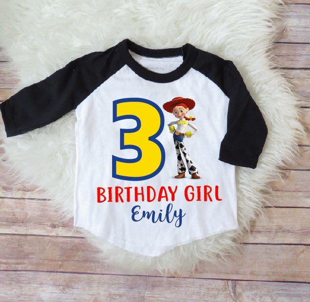 Toy story birthday shirt Girls toy story birthday shirt Jessie toy