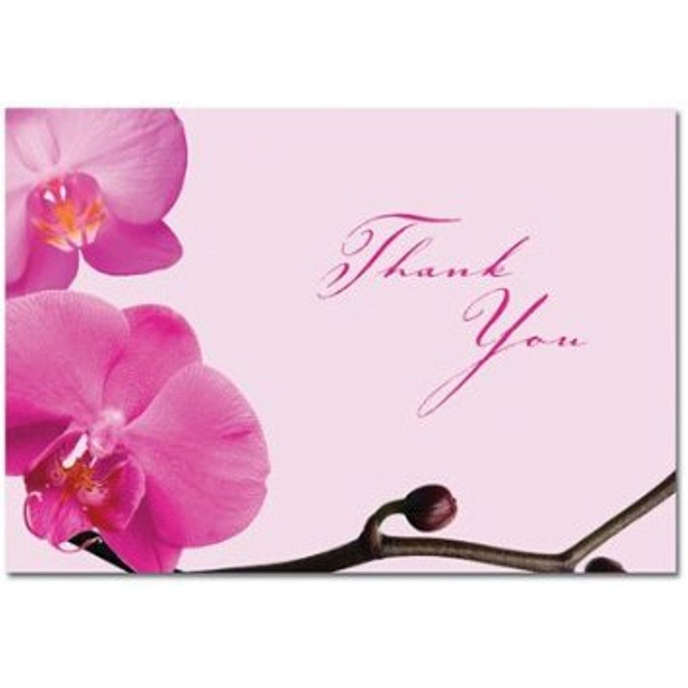 Pink Orchid Thank You Note Cards and Envelopes | Pink orchids and ...