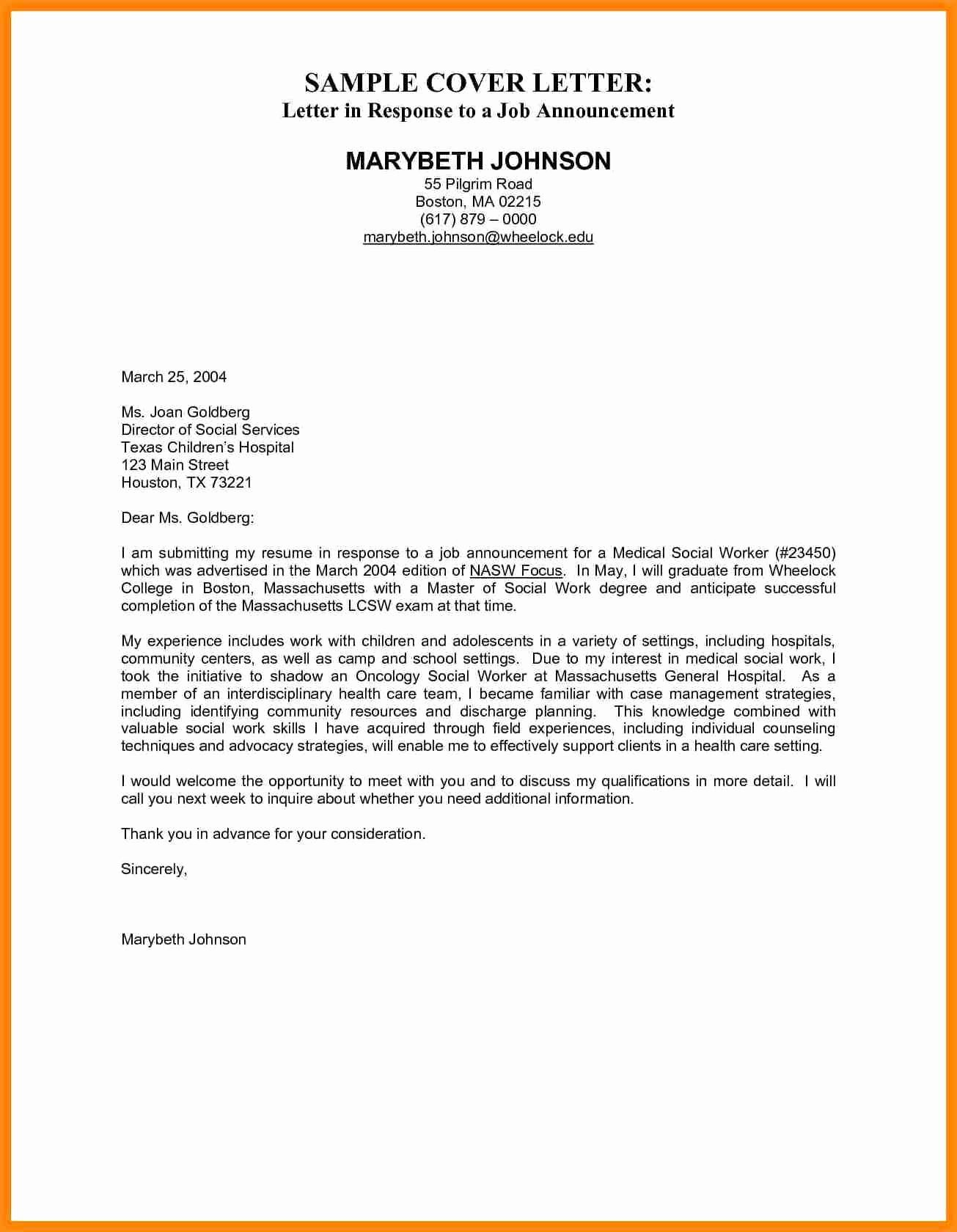 27 Administration Cover Letter Letters Healthcare Inspirational Hospital