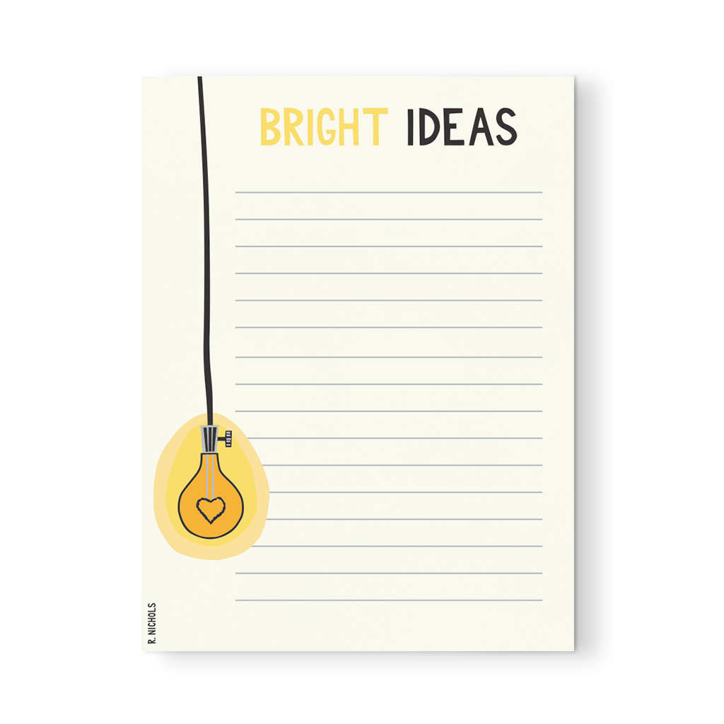Bright Ideas Notepad | Simple life hacks, Stationery ...