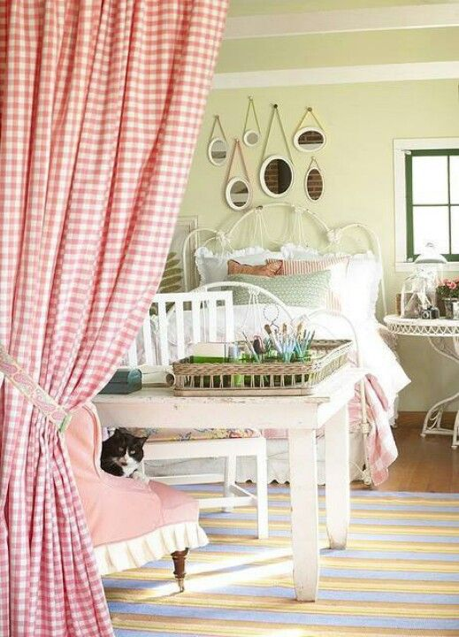 Pink Gingham Pretty Bedroom Gingham Curtains My Room