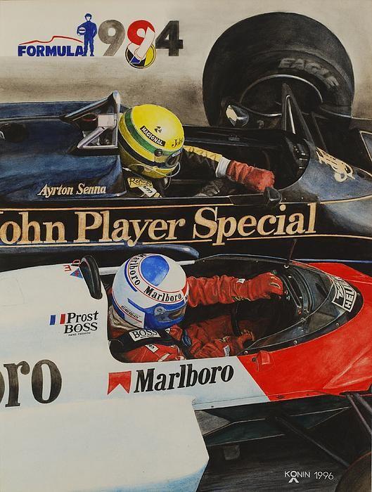 Titans Battle By Oleg Konin In 2021 Ayrton Senna Classic Racing Cars Racing Posters Ayrton senna hd wallpaper