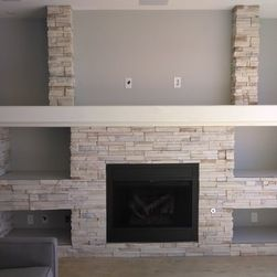 cosy drywall entertainment centers. Beginning with a blank canvas  this custom media wall was designed to give the Entertainment Wall Centers Custom Drywall
