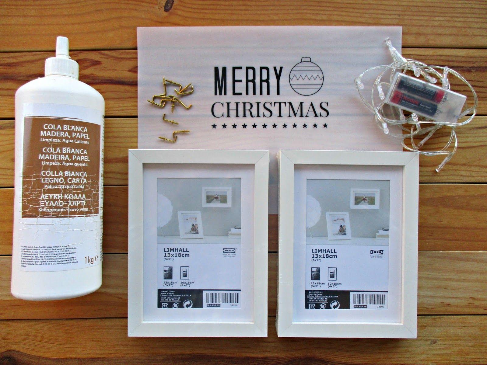 Materiales - DIY Haz una bonita caja de luz con unos marcos de Ikea ...
