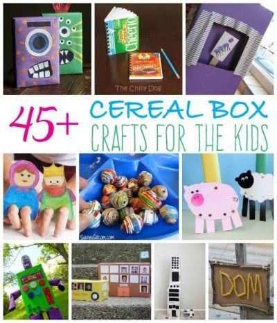 Over 45 Crafts To Make From Cereal Boxes Fun Family Crafts