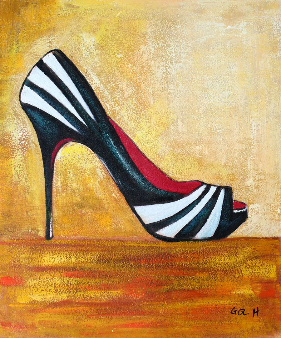 Zebra Shoes | Paintings to do | Pinterest | Modern wall art ...