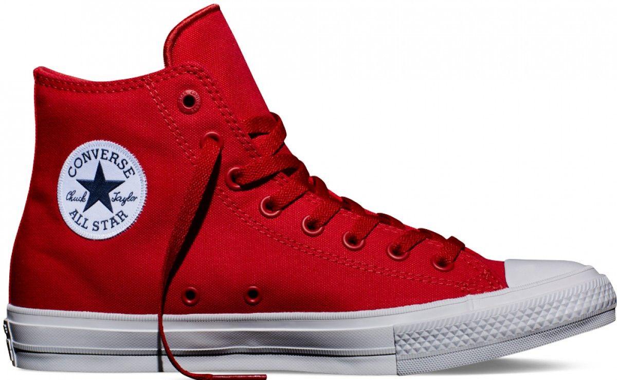 b4f23e40c0f Converse Chuck Taylor II Hi Top Salsa Red White