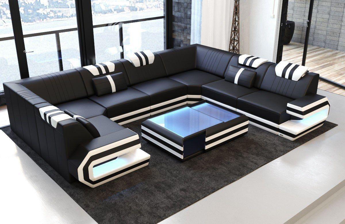 Luxury Sectional Sofa San Antonio U Shape With Led And Usb Port