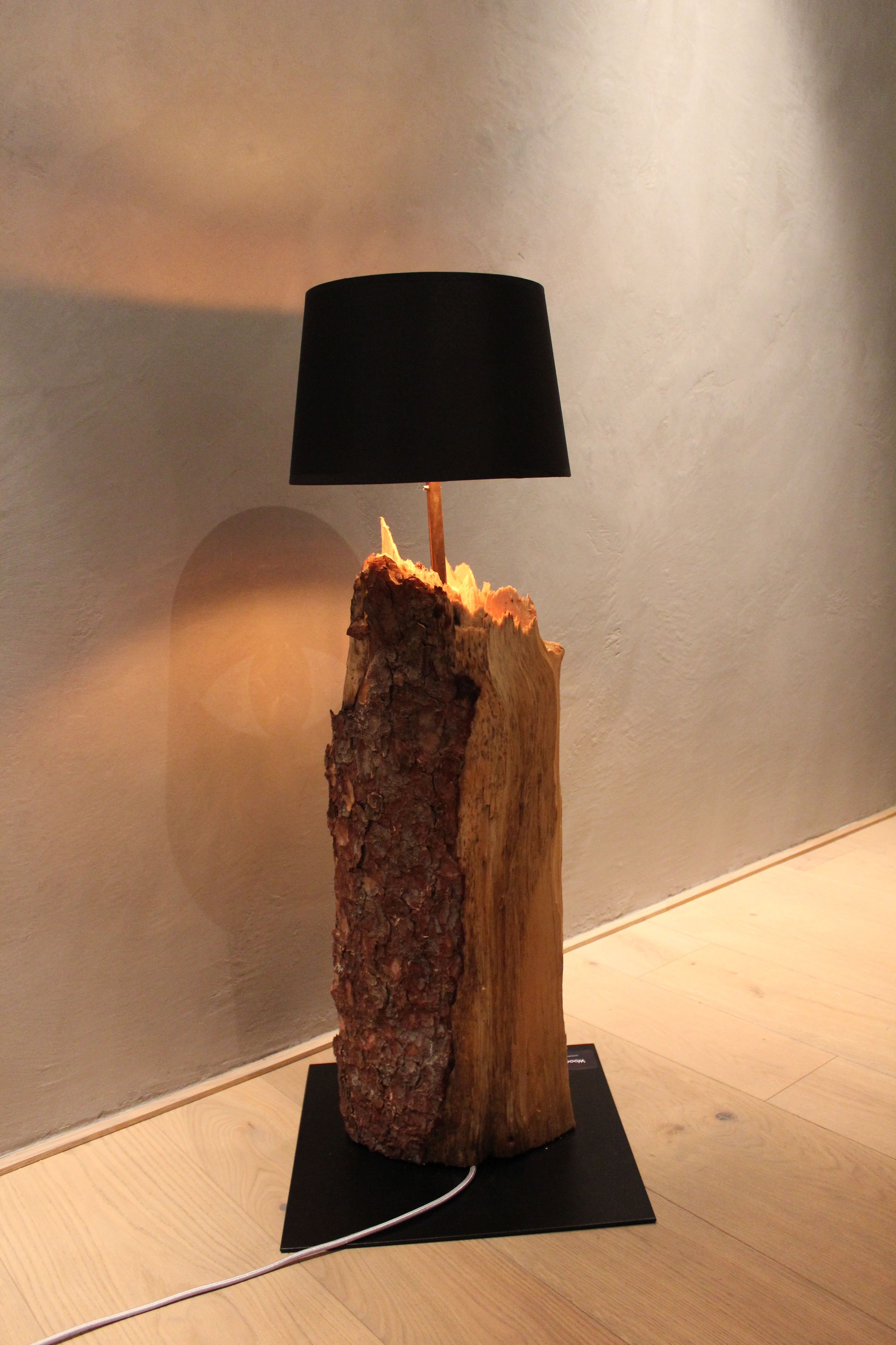 Lampe Aus Holz Holzstamm Wood2bsteel In 2019 Pinterest Home