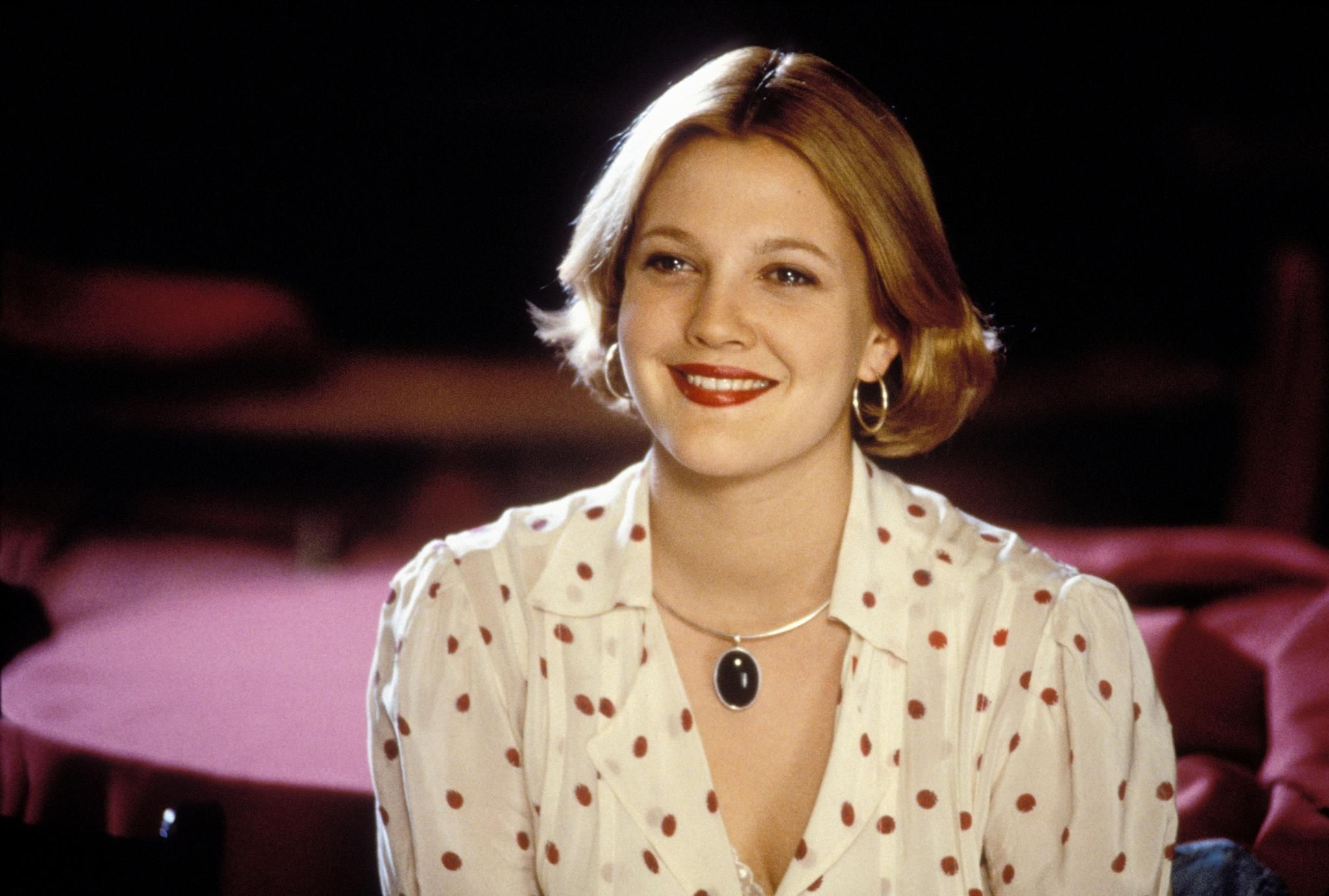 The Wedding Singer Drew Barrymore In Year Playing A Character From 1985