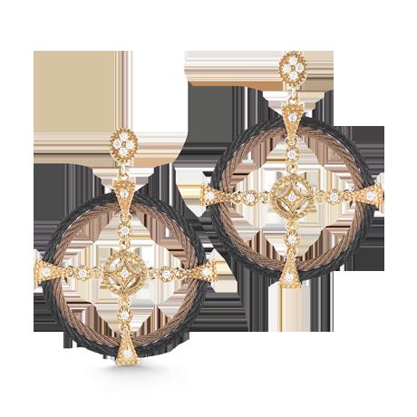 ALOR petra cable earrings