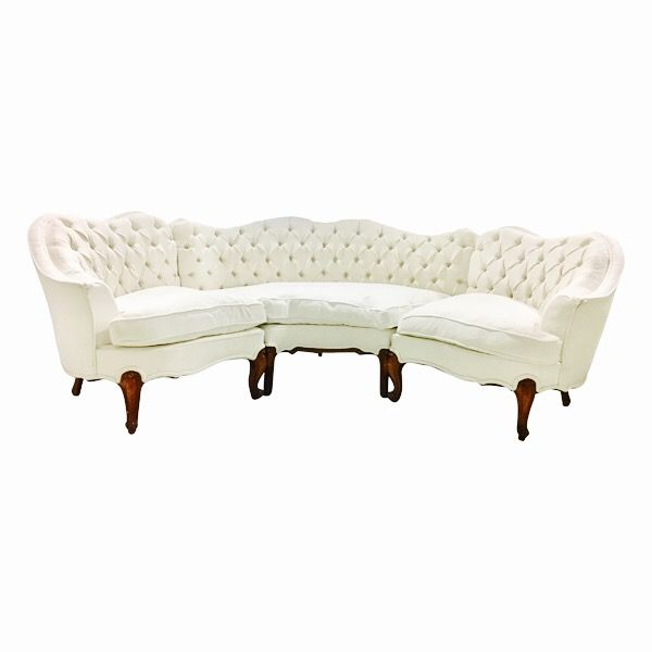 Miraculous Liza Tufted Sectional Sofa White Tufted Back 3 Piece Caraccident5 Cool Chair Designs And Ideas Caraccident5Info