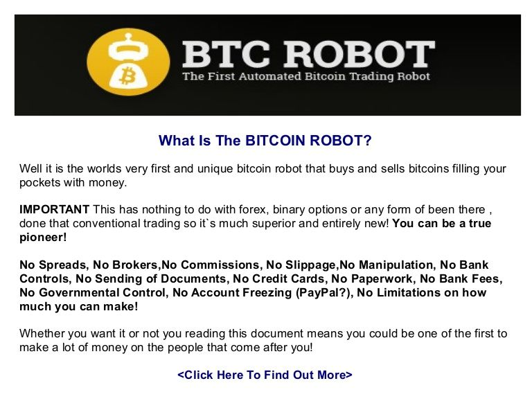 Bitcoin Btc Trading Robot Review By Glenn Diecedue Via Slideshare