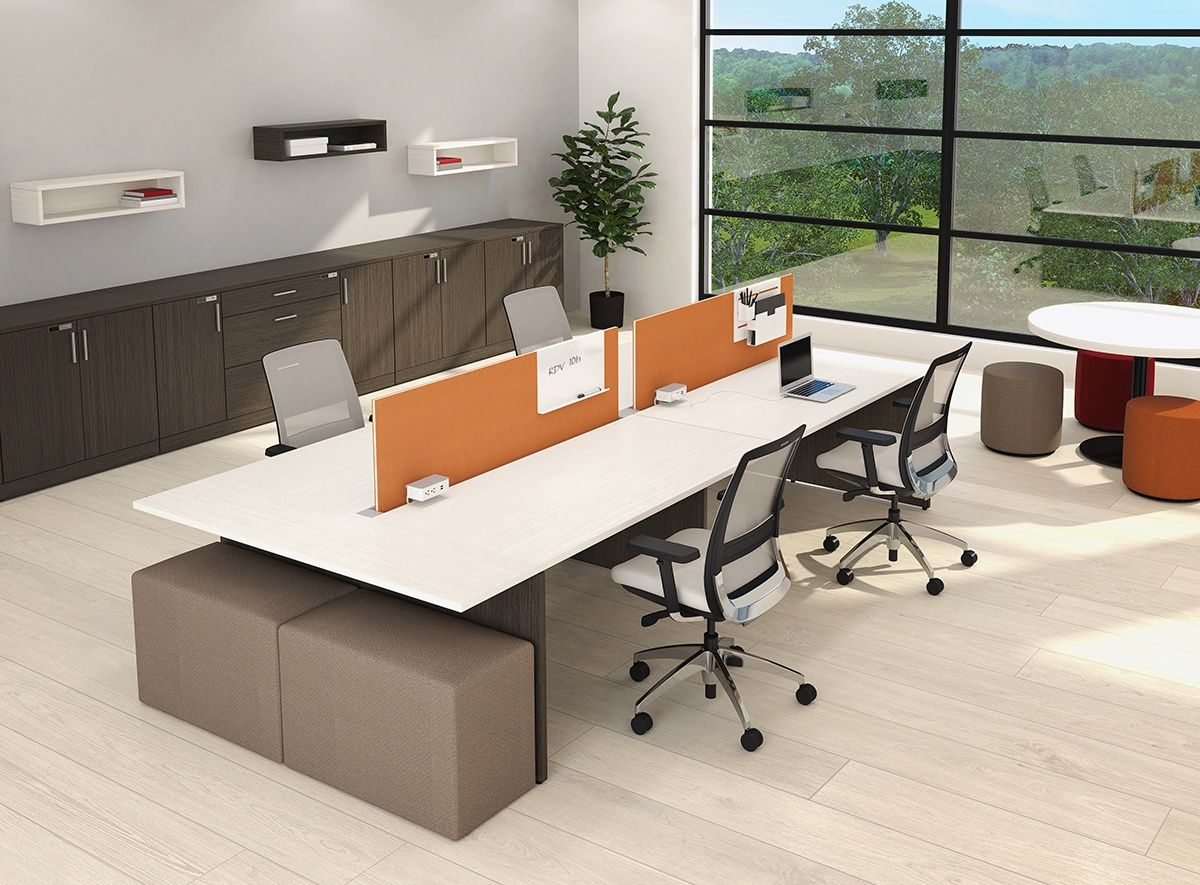 Take Off shared benching tables by Artopex in open spaces offer ...