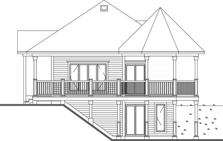 Victorian Style House Plan 65263 With 1 Bed 1 Bath Sloping Lot House Plan Small House Plans Bungalow House Plans