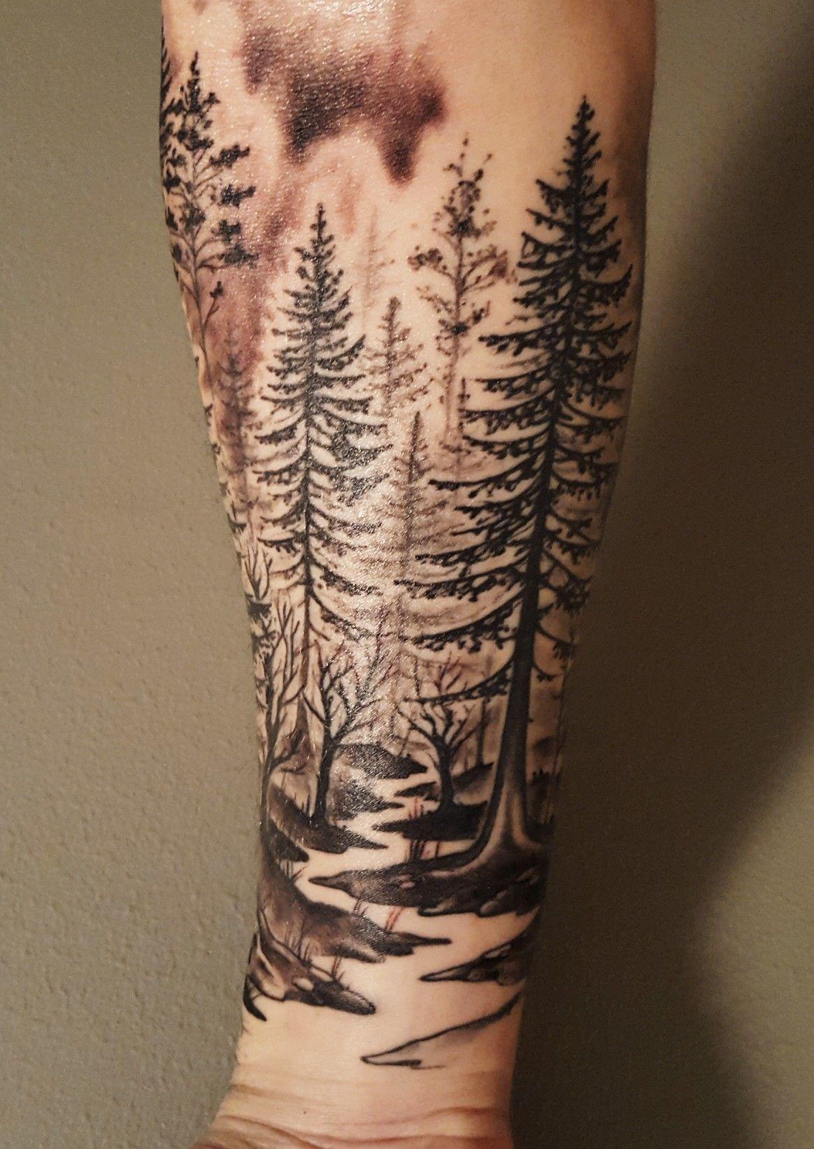 Forest lake deer tattoo designs tattoos deer tattoo