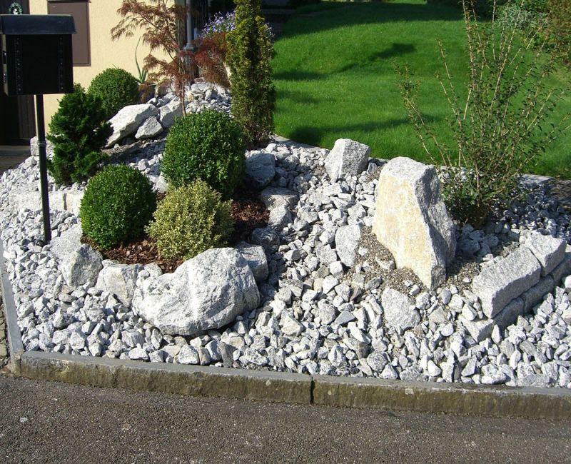 Steingarten Mit Granit Pic - homeautodesign.com -