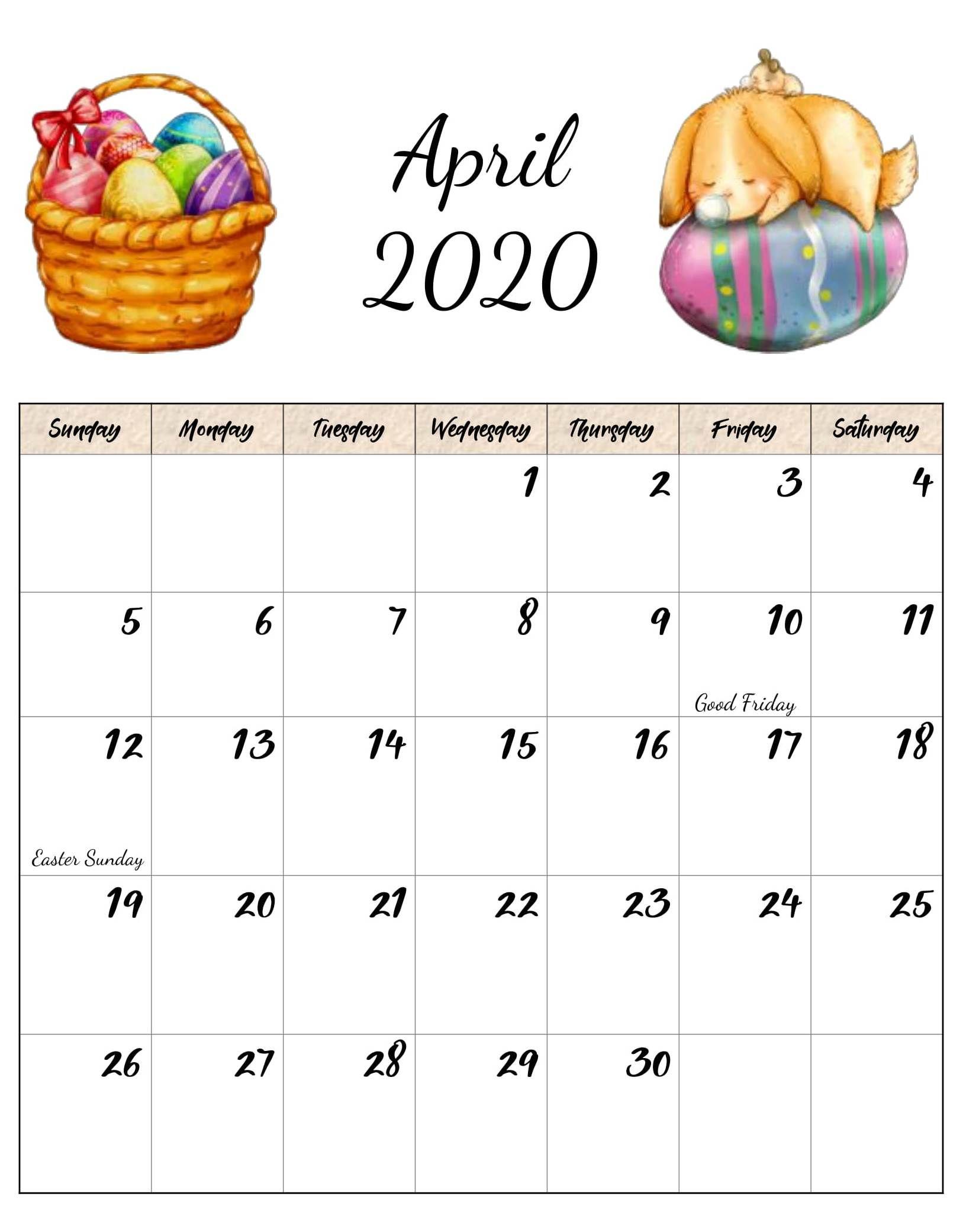 Latest Cute April 2020 Floral Calendar Hd Wallpaper In 2020 2020