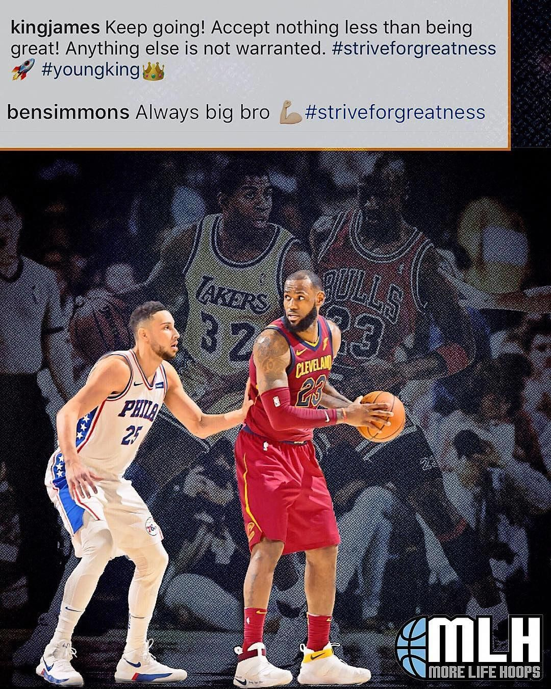 Lebron James And Ben Simmons Show Each Other Respect On Instagram Kingjames Lebronjames Lebron Bensi Basketball Girls Basketball Games For Kids Ben Simmons
