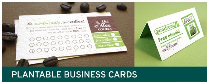 Plantable Loyalty Cards And Business Made Out Of Seed Paper
