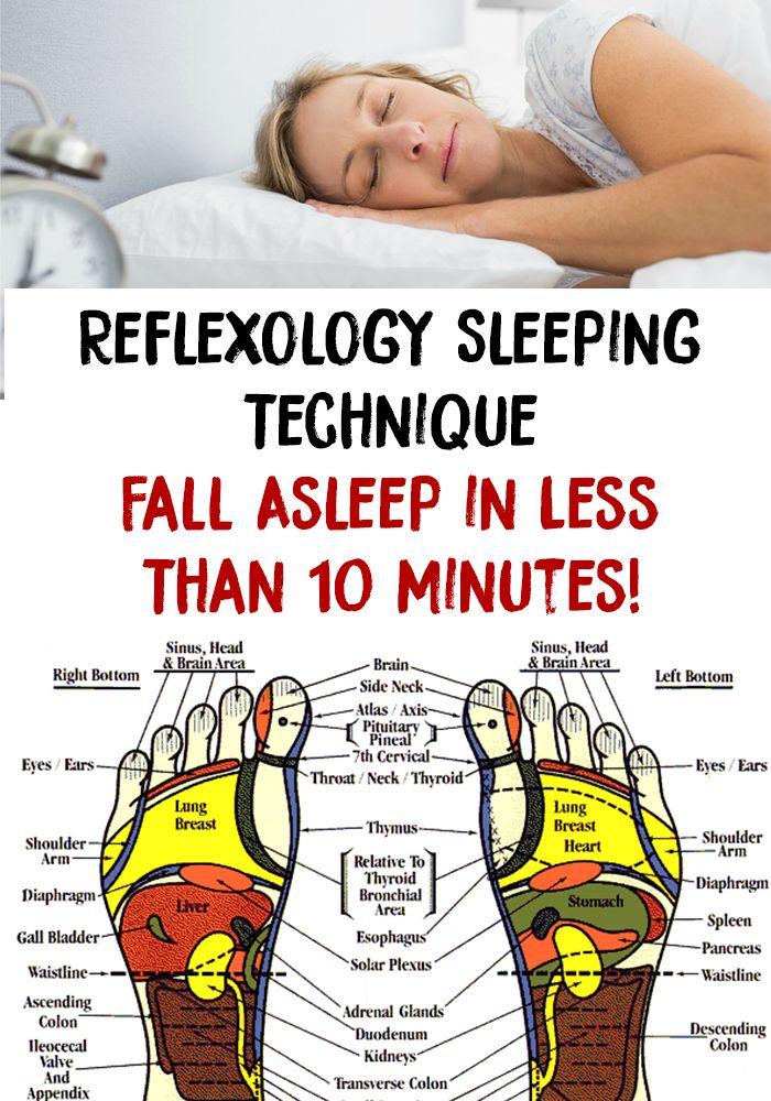 Reflexology Sleeping Technique Fall Asleep In Less Than 10