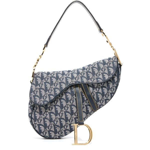 What Goes Around Comes Around Dior Saddle Bag Previously Owned ($650) ❤ liked on Polyvore featuring bags and handbags