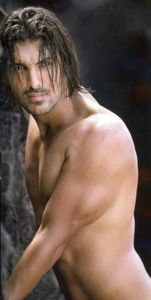 Sporting Long Hair John Abraham Bollywood Actors Handsome Actors