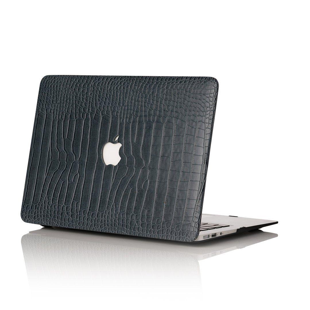 Charcoal Faux Crocodile MacBook Case Macbook case