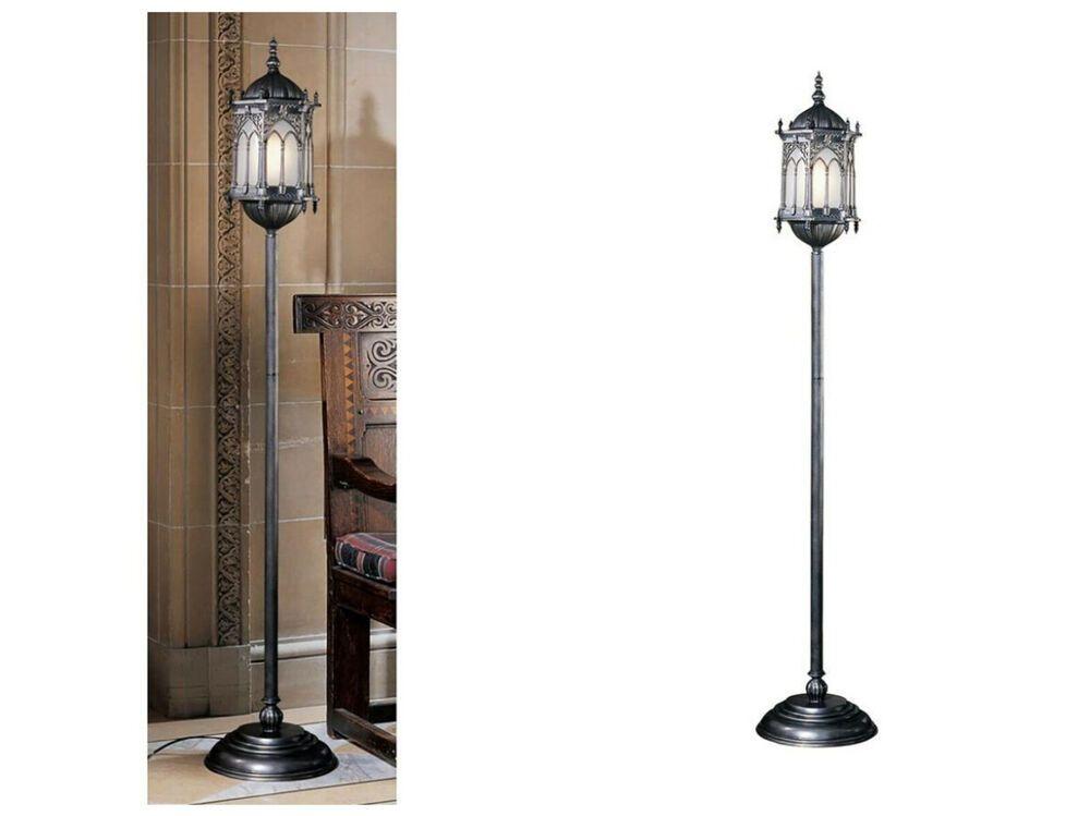 Unique Gothic Medieval Lantern Floor Lamp 6 Feet Tall Metal Old World Lighting Lantern Floor Lamp Floor Lamp Christmas Lamp