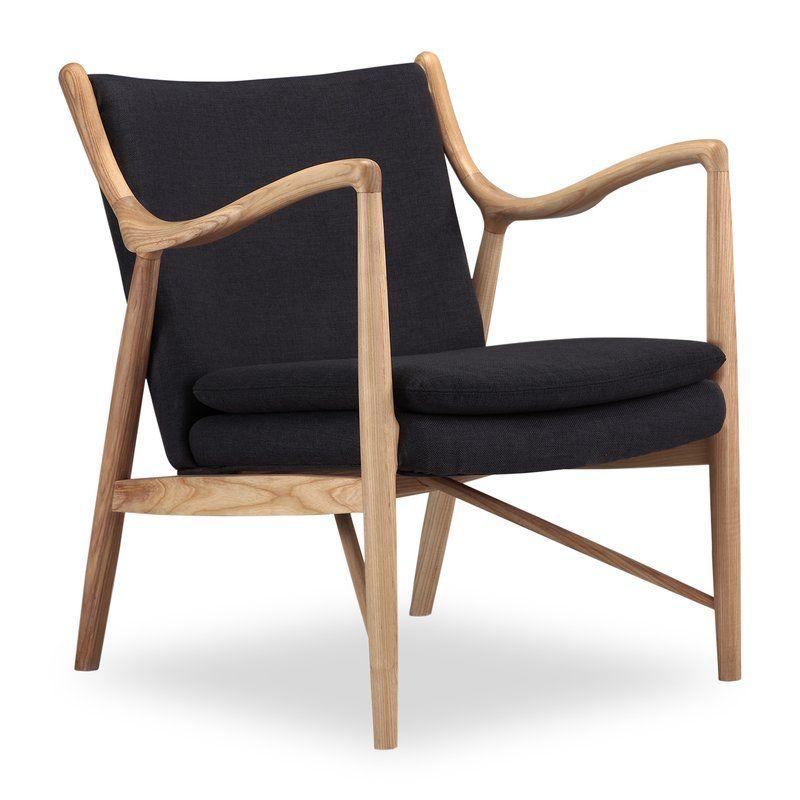 Rashad Armchair Mid Century Modern Armchair Wood Chair Design