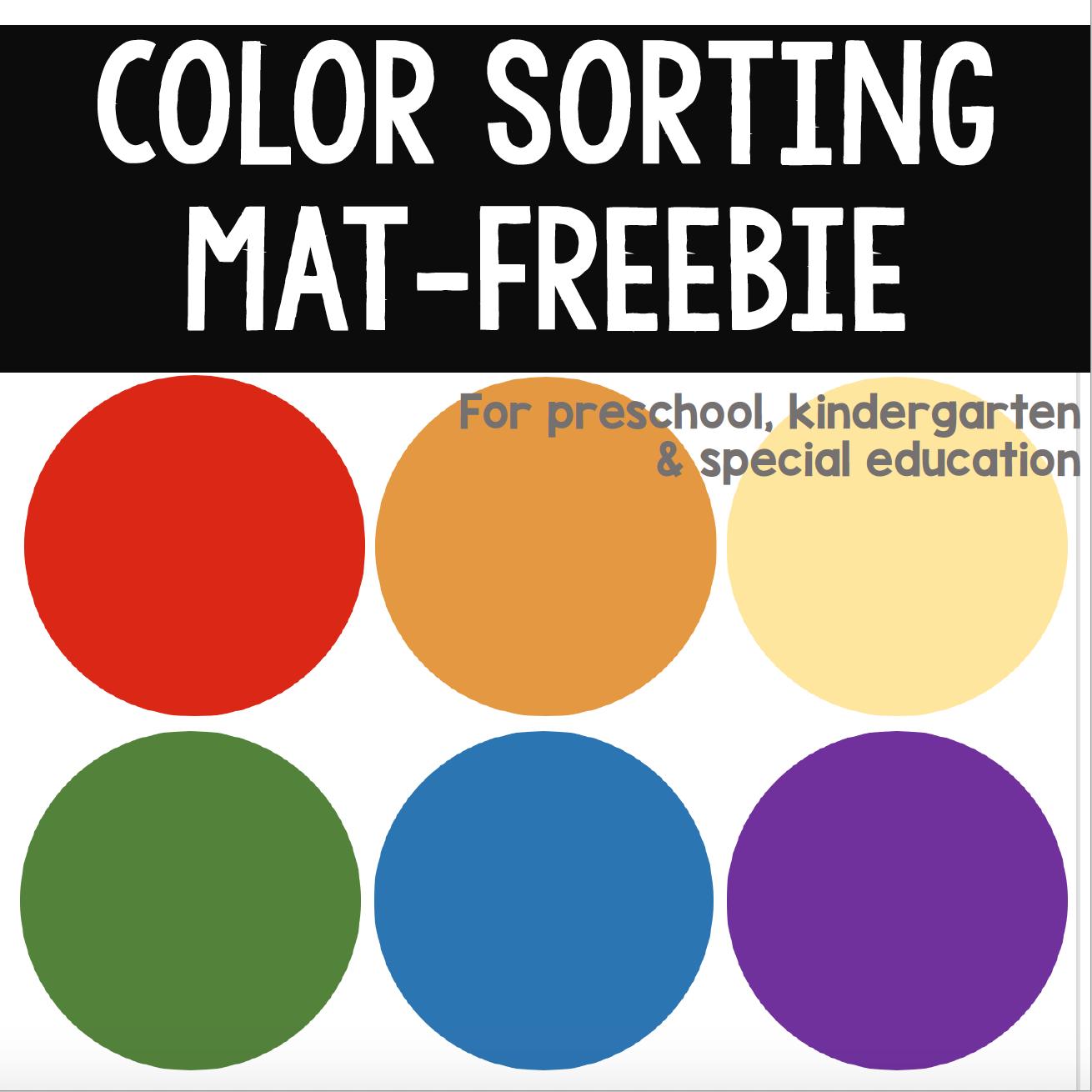 Color Sorting Mat Printable Free In