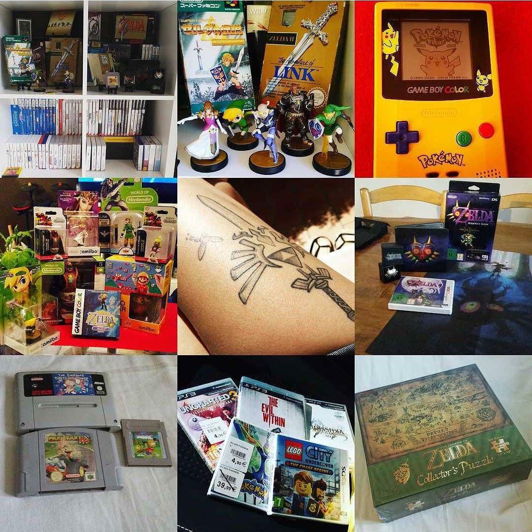 On instagram by ade0217  #gameboy #microhobbit (o)  http://ift.tt/1NYZRU0  Best Nine.  Jeux video et tatoo  #jv #jeuxvideo #instagaming #instajeu #gaming #games #jeux #tattoogirl #gaminglife ##zelda #nintendo  #pikachu #gamergirl #amiibo #tattoozelda #retro #retrogaming