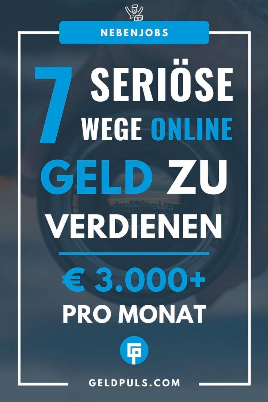 geld verdienen im internet ausland