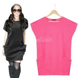 $ 10.75 Brief Short Sleeve Spring Autumn Loose One-piece Dress