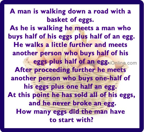 How Many Eggs Did The Man Have In His Basket Bhavinionline Com Jokes And Riddles Funny Jokes For Kids Riddles