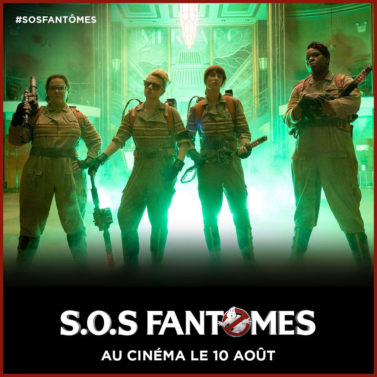 Decouvrez La Nouvelle Equipe De Sos Fantomes Le 10 Aout Au Cinema Sos Fantomes Chris Hemsworth Cinema