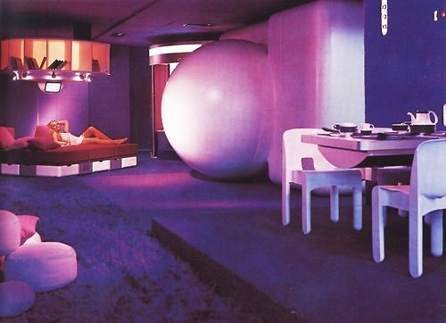 Wandrlust Visiona I At The Cologne Furniture Fair For Bayer 1969 Joe Colombo Retro Interior Design Futuristic Interior Futuristic Furniture
