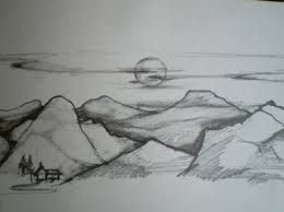 Perspective Drawings Of Landscape Google Search Landscape Pencil Drawings Pencil Drawings Easy Nature Drawing